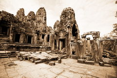Bayon Temple at Angkor Thom, Cambodia. Royalty Free Stock Image