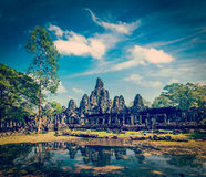 Bayon temple, Angkor Thom, Cambodia Stock Photos