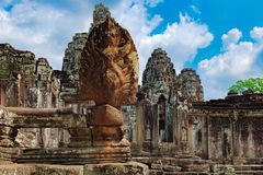 Bayon Temple in Angkor Thom Complex, Cambodia Stock Image
