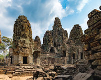 Bayon Temple in Angkor Thom Complex, Cambodia Royalty Free Stock Photos