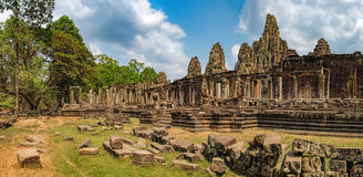 Bayon Temple in Angkor Thom Complex, Cambodia Stock Photos