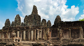 Bayon Temple in Angkor Thom Complex, Cambodia Royalty Free Stock Image