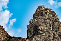 Bayon Temple in Angkor Thom Complex, Cambodia Royalty Free Stock Images