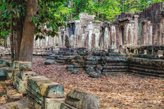 Bayon Temple in Angkor Thom Complex, Cambodia Stock Photography