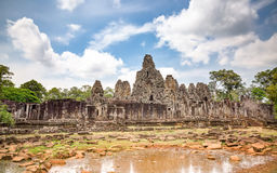Bayon temple in Angkor Thom Royalty Free Stock Photography