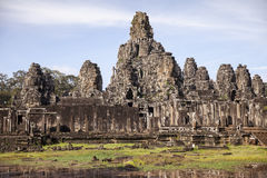 Bayon Temple at Angkor Thom Stock Photo