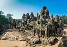 Bayon Temple at Angkor Thom stock images