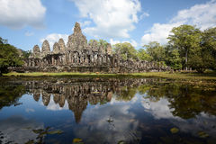 Bayon temple in Angkor Thom Stock Photography