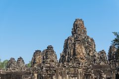 Bayon temple in angkor thom siem reap cambodia Stock Images