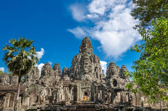 Bayon temple in Angkor Thom Stock Photo