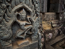 Bayon temple in Angkor Thom, Siemreap, Cambodia.  royalty free stock image