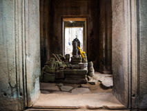 Bayon temple in Angkor Thom, Siemreap, Cambodia.  royalty free stock photography