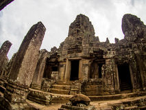 Bayon temple in Angkor Thom, Siemreap, Cambodia.  stock photos