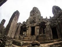 Bayon temple in Angkor Thom, Siemreap, Cambodia.  stock photography