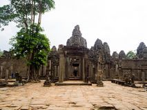 Bayon temple in Angkor Thom, Siemreap, Cambodia.  royalty free stock photo