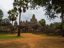 Bayon temple in Angkor Thom, Siemreap, Cambodia Royalty Free Stock Photography