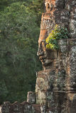 Bayon temple in angkor thom. Stone heads on towers of Bayon temple in Angkor Thom, Cambodia Stock Images