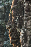 Bayon temple in angkor thom. Stone heads on towers of Bayon temple in Angkor Thom, Cambodia Royalty Free Stock Images