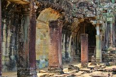 Bayon Temple of Angkor Thom stock image
