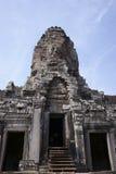 Bayon temple, Angkor wat, Cambodia. A stone face in Bayon temple, Angkor wat, Cambodia Royalty Free Stock Photography