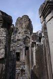 Bayon temple, Angkor wat, Cambodia. A stone face in Bayon temple, Angkor wat, Cambodia Royalty Free Stock Images