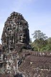 Bayon temple, Angkor wat, Cambodia. A stone face in Bayon temple, Angkor wat, Cambodia Royalty Free Stock Image