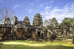 Bayon temple, Angkor Wat, Cambodia, Asia. Royalty Free Stock Photos