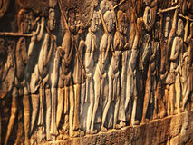 Bayon Temple in Angkor Wat, Cambodia. Detail of Bayon Temple in Angkor Thom, Angkor district, Siem Reap, Cambodia Stock Photo
