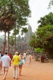 Bayon Temple in Angkor Wat, Cambodia Royalty Free Stock Photos