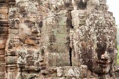 Bayon Temple in Angkor Wat, Cambodia Stock Photos