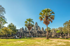 Bayon temple in Angkor Wat complex Royalty Free Stock Photography