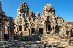 Bayon temple in Angkor Wat complex Royalty Free Stock Image