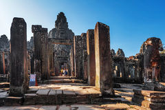 Bayon temple in Angkor Wat complex Stock Image