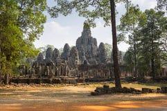 Bayon temple at Angkor Wat complex Royalty Free Stock Images