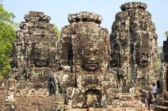 Bayon temple at Angkor Wat complex Stock Photo