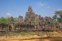 Bayon temple at Angkor Wat complex Stock Images