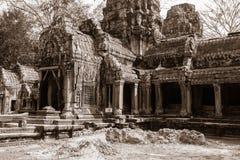 Bayon Temple at Angkor Wat Historical Complex Royalty Free Stock Photography