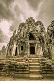 Bayon Temple and Angkor Wat Khmer complex in Siem Reap, Cambodia Royalty Free Stock Image