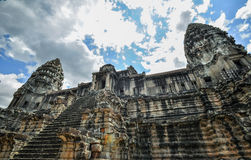 Bayon Temple and Angkor Wat Khmer complex in Siem Reap, Cambodia Royalty Free Stock Photography