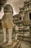Bayon Temple and Angkor Wat Khmer complex in Siem Reap, Cambodia Stock Photography