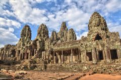 Bayon Temple at Angkor Wat Stock Image