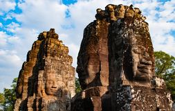 Bayon temple. Cambodia stock photography