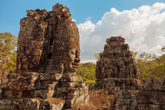Bayon Temple Buddha Face Royalty Free Stock Images