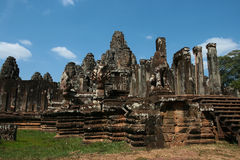 Bayon temple in Cambodia Royalty Free Stock Image
