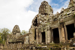 Bayon Temple. Cambodia. Royalty Free Stock Photo