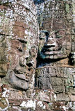 Bayon temple- Cambodia. Mysterious smiling faces of the Bayon temple at the UNESCO World Heritage site ruins of Angkor Wat archaeological park- Siem Reap Stock Photos