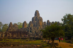 Bayon Temple. Cambodia, Siem Reap, Angkor Thom - Bayon Temple Royalty Free Stock Photo