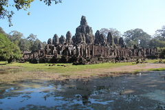 Cambodia. Angkor Thom City. Bayon temple. Siem Reap Province. Siem Reap City. Stock Photography