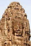 Bayon Temple, Cambodia. Stone face at Bayon Temple in Angkor Thom, Siem Reap, Cambodia Stock Photography