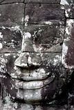 Bayon Temple Face. One of the 200 faces at the Bayon Temple in Angkor Wat, Cambodia Royalty Free Stock Image